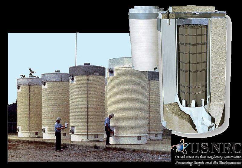 Dry cask storage - opbevaring af atomaffald
