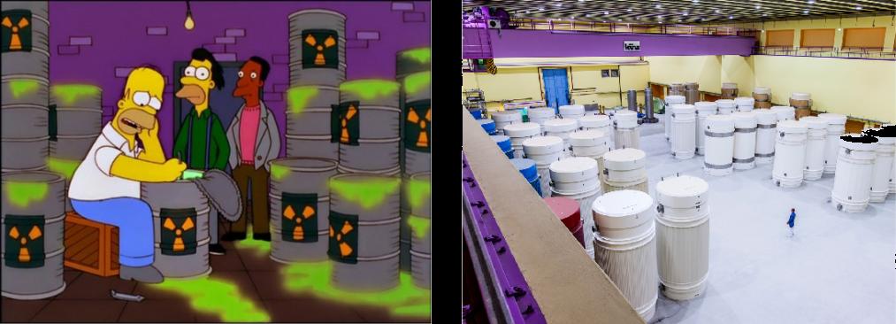 Atomaffald i The Simpsons og Schweiz opbevaring af atomaffald
